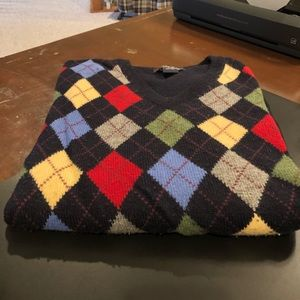 Brooks Brothers argyle sweater size XL